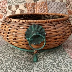 Other - Footed Basket with Handles